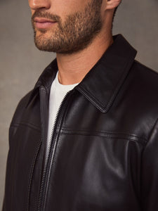 Men Vintage Black Leather Jacket