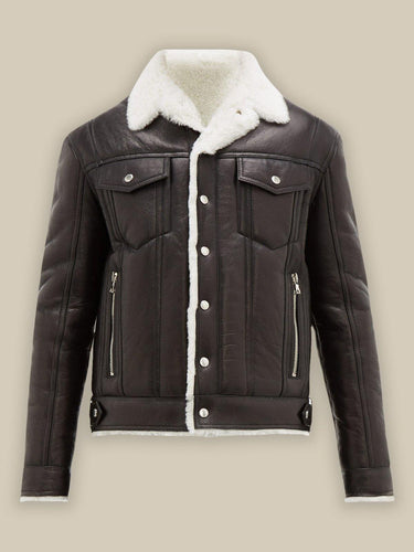 MEN STREETSTYLE SHEARLING JACKET
