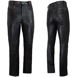Men's Elite Plain Leather Jeans
