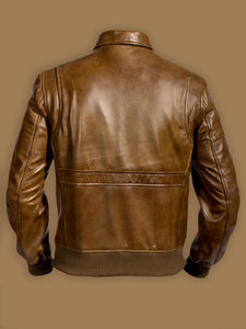 Men Traditional Brown Leather Jacket - Wiseleather