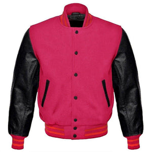 PINK LETTERMAN JACKET - Wiseleather