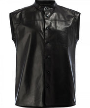 Soldier Sleeveless Leather Shirt