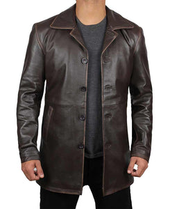 Dean Winchester Jacket Distressed Leather Coat - Wiseleather