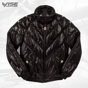 V Bomber Jacket Appenzeller Gurt Black - Wiseleather