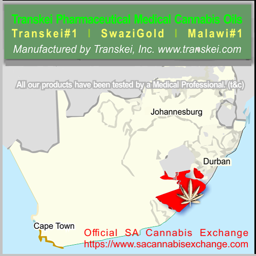 For items containing Cannabis we require written legal permission by your Medical Profesional & the SA Export Office. For wholesale orders we will assist you. e:info@transkei.com