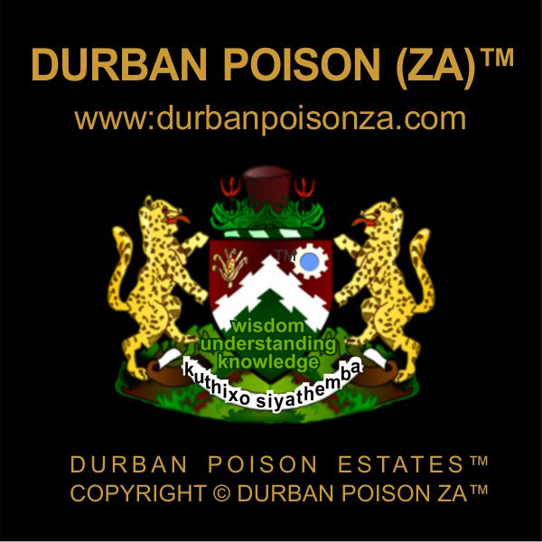 Transkei Poison™ & Pondo Poison™ are registered trademarks of the THC, Transkei Health Care @TranskeiGroup a wholly owned subsidiary of The Durban Poison Organization™ www.durbanpoison.org