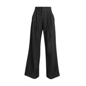 To Miami High Waist Wide Leg Black Pant