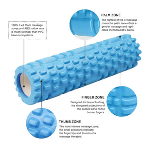 Yoga Pilates Column Gym Fitness Foam Roller