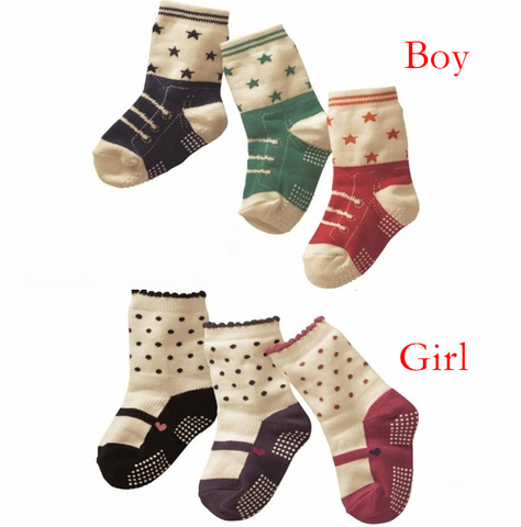 Three Pack Babies Cotton Socks (0-3 Years)