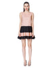 Pink and Black Spliced Mini Dress