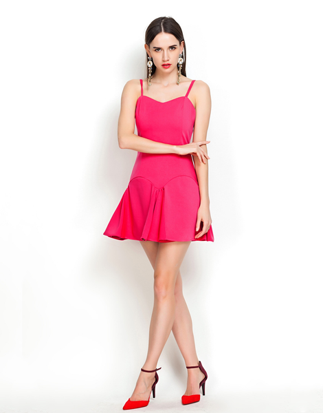 Wrap Me Up Fuchsia Mini Sundress