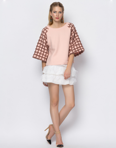 Pink Over-sized Pullover Shirt