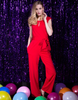 Lady in Red Party Jumpsuit