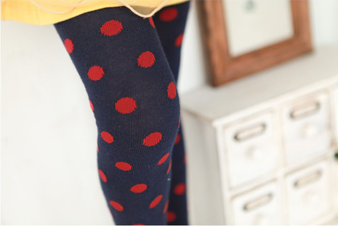 Girls' Polka Dot Tights
