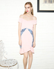 Cotton Candy Pink and Blue Trumpet Dress