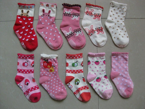 Three Pack Baby Girls Cotton Ankle Socks (0-3 Years)