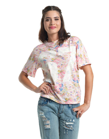 Pink Floral Print T-Shirt