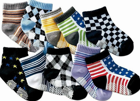 Three Pack Baby Boys Cotton Ankle Socks (0-3 Years) - Graphic