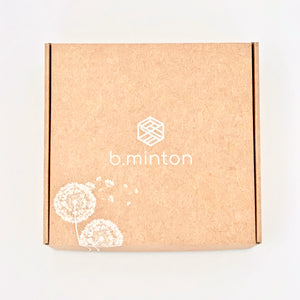 top down view of the b.minton gift box