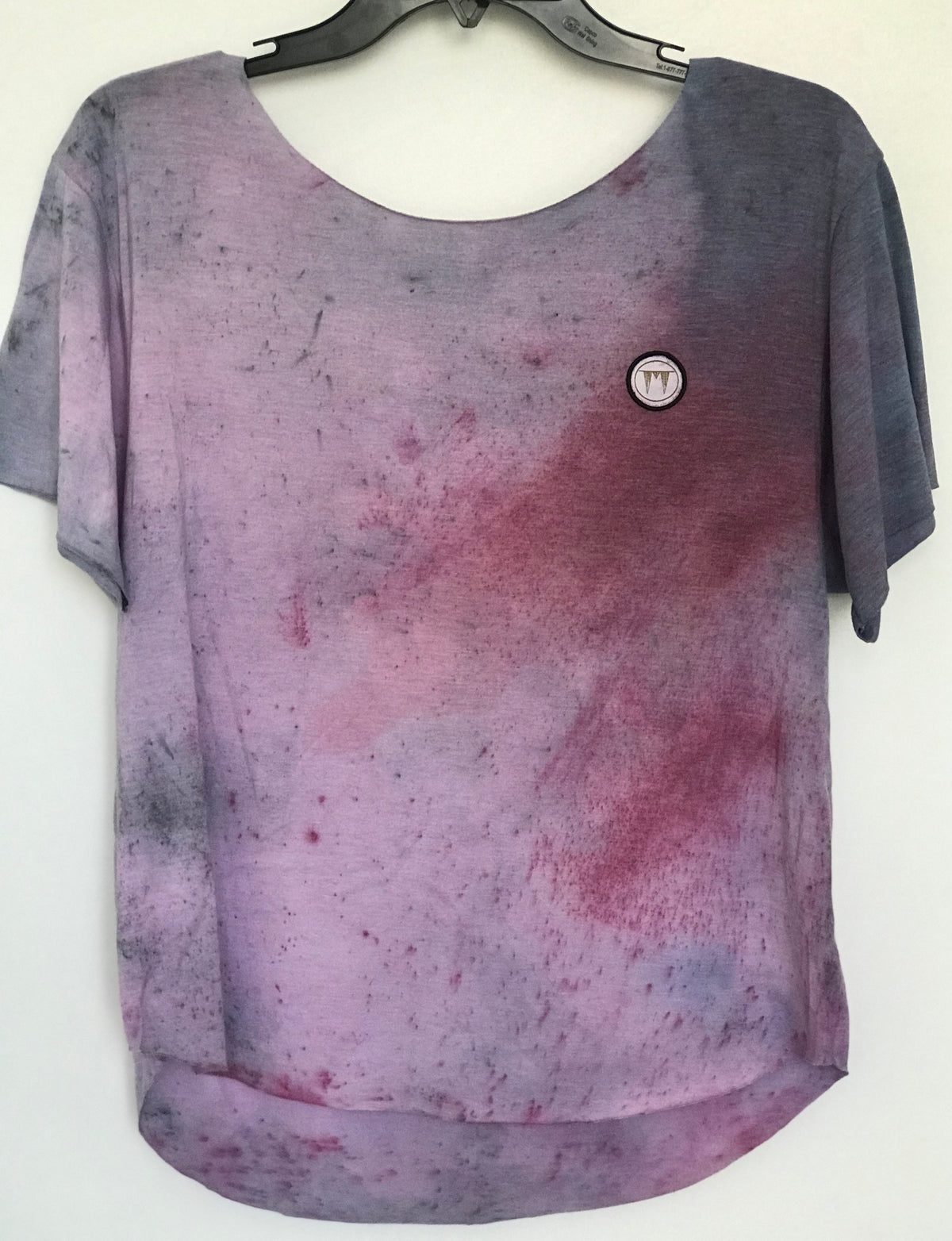 "The ""Fushia Tears"" Custom Raw Cut One Of A Kind Tee Shirt"