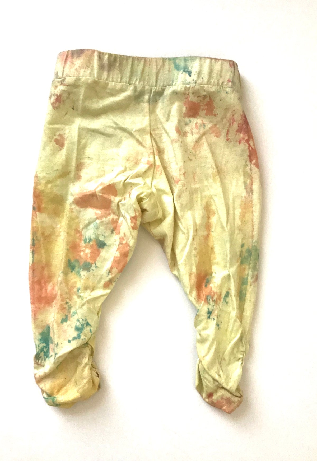 Free Shipping MOVIMENTO-Apparel Ready To ShipOne Of A Kind Sunny Day Baby Organic Cotton Harems Custom Hand Dyed