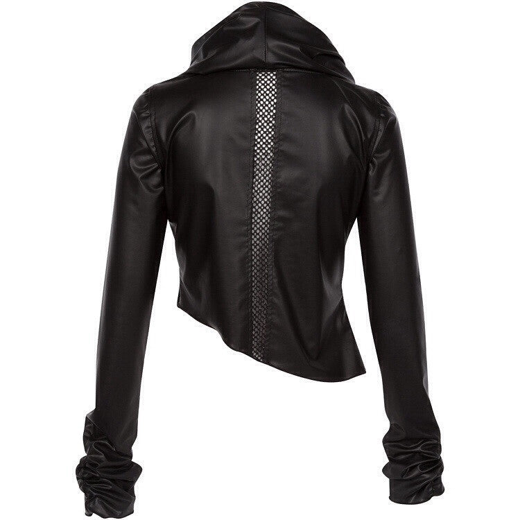 "The ""Mira"" Silver Moto Jacket"