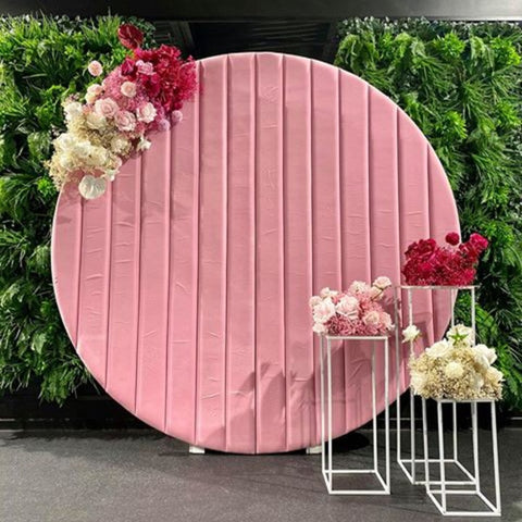 styling-photo-wall-hire-christchurch-modern-backdrop-pink-flowers-design