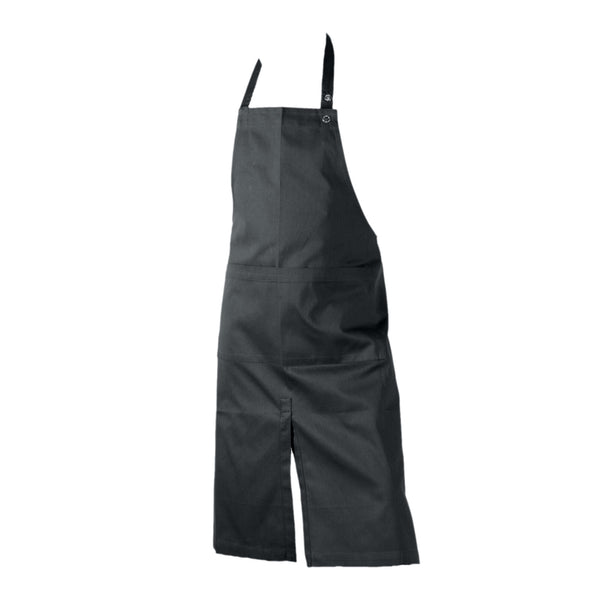 Dark grey long apron