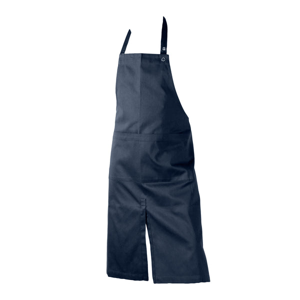 Blue long apron