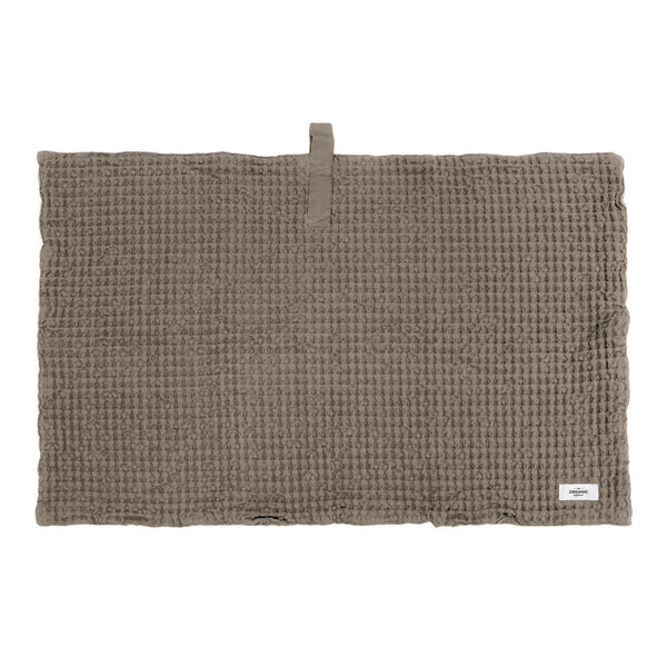 Brown bath mat