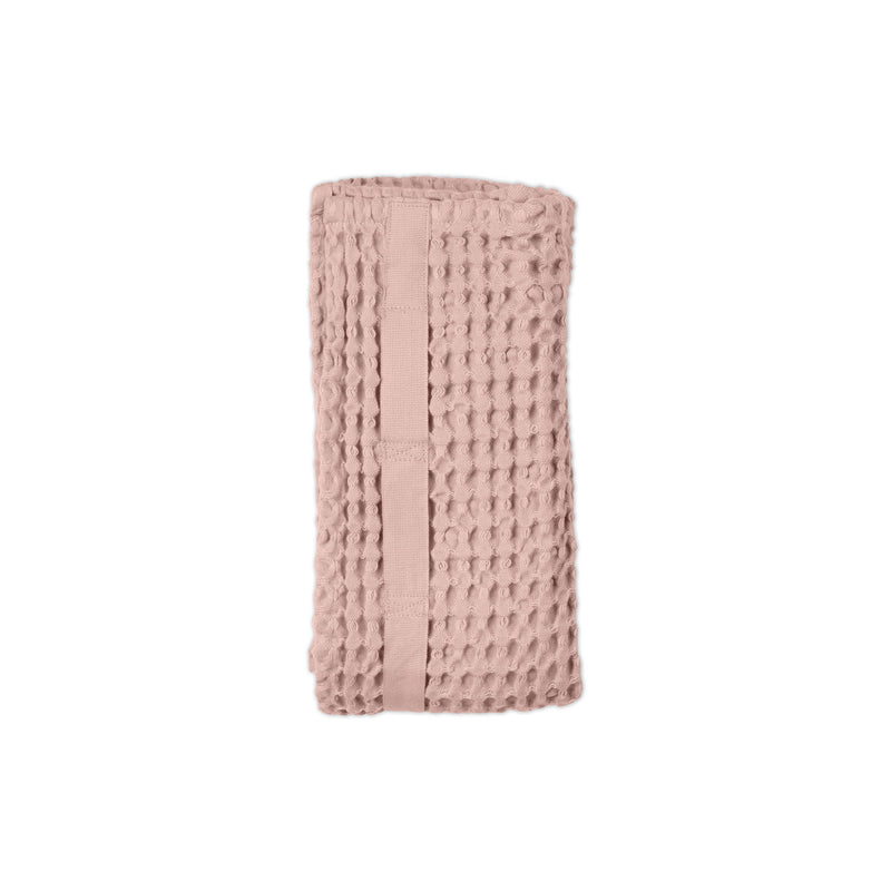 Rose coloured organic towel