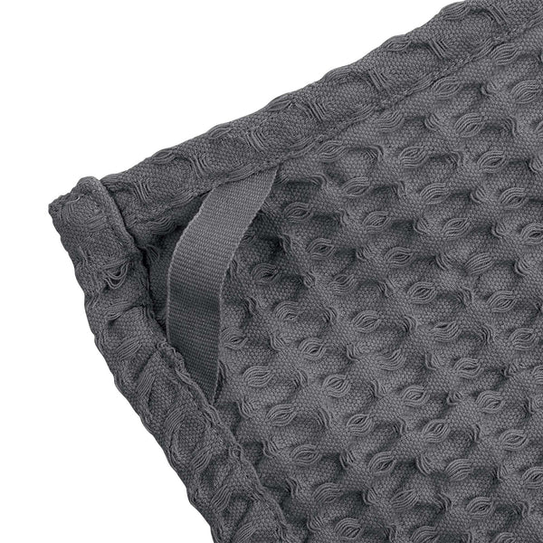 The Organic Company Big Waffle Kitchen and Wash Cloth Big Waffle 110 Dark grey