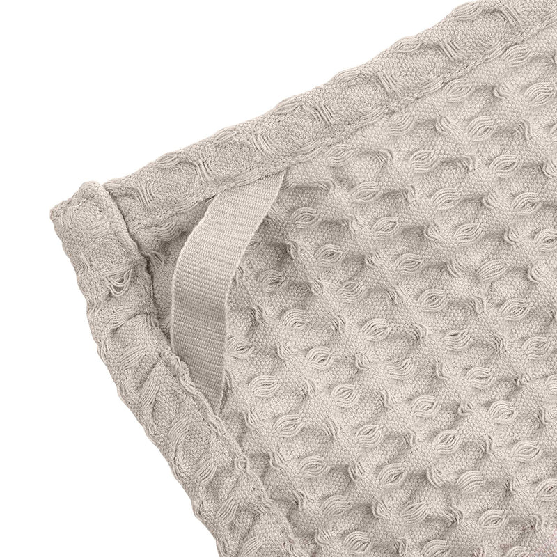 The Organic Company Big Waffle Kitchen and Wash Cloth Big Waffle 202 Stone