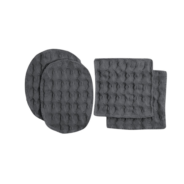 Dark grey gots certified organic reusable makeup pads