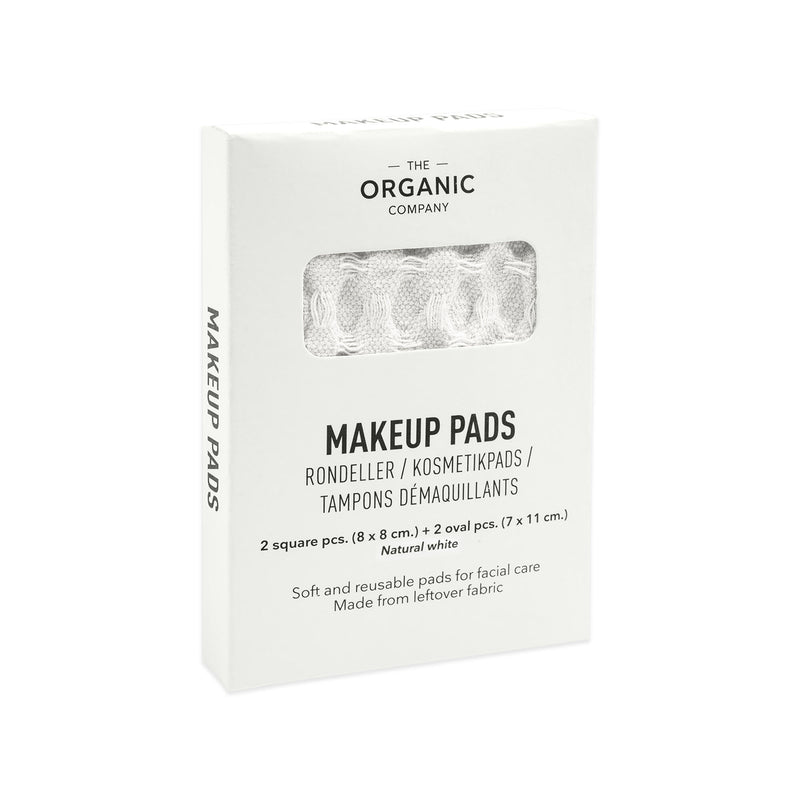 White gots certified organic reusable make up pads