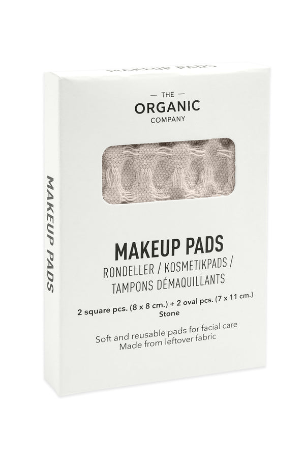 White gots certified organic reusable makeup pads