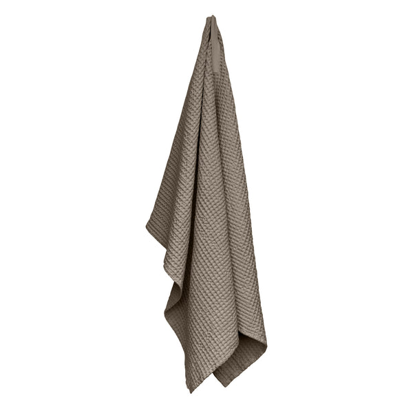 Brown towel hanging