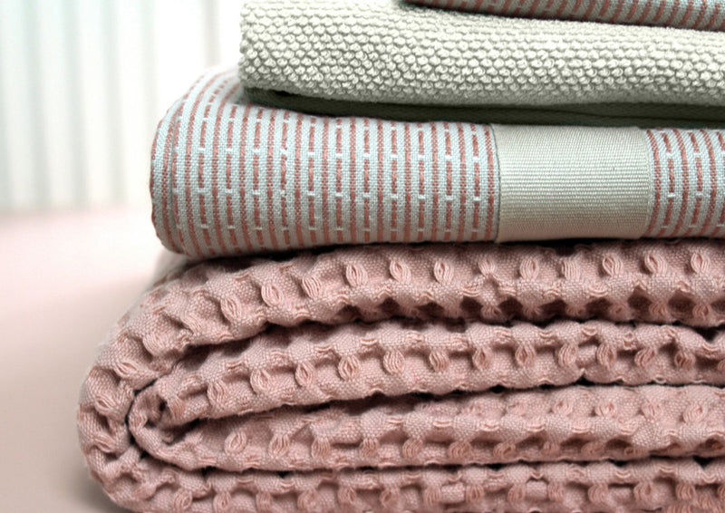 The Organic Company Big Waffle Towel and Blanket Big Waffle 331 Pale rose