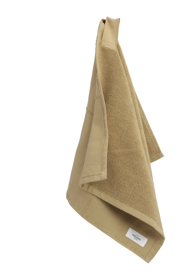 Brown hanging towel