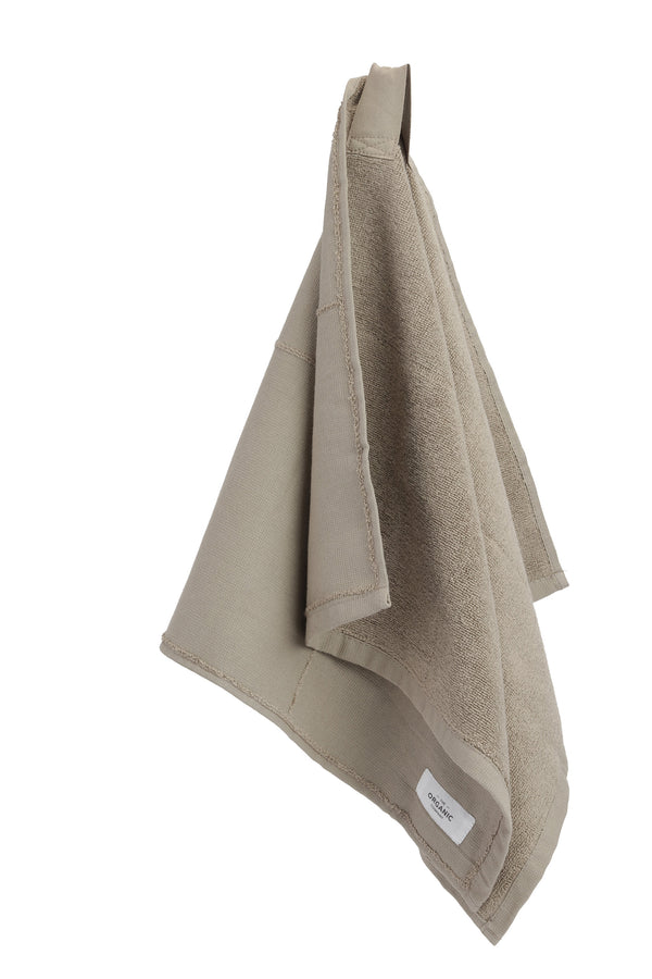 Brown towel folded