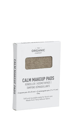 Khaki gots certified organic reusable make up pads