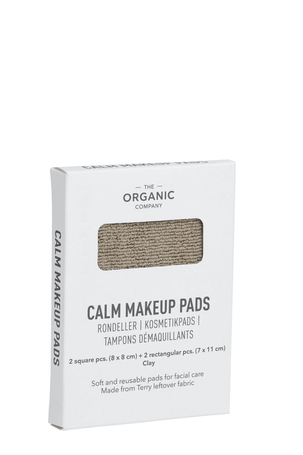 The Organic Company CALM Makeup Pads TerryPlain 225 Clay