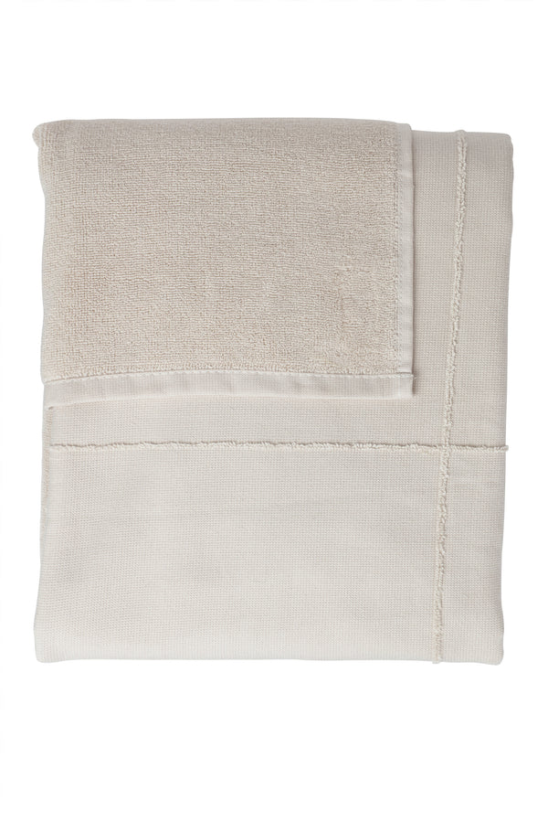 The Organic Company CALM Towel to Wrap TerryPlain 202 Stone