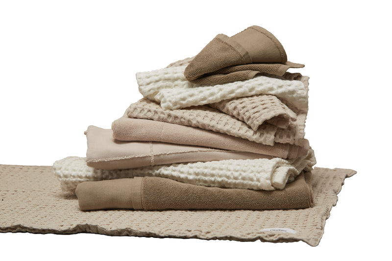 Pile of brown towels
