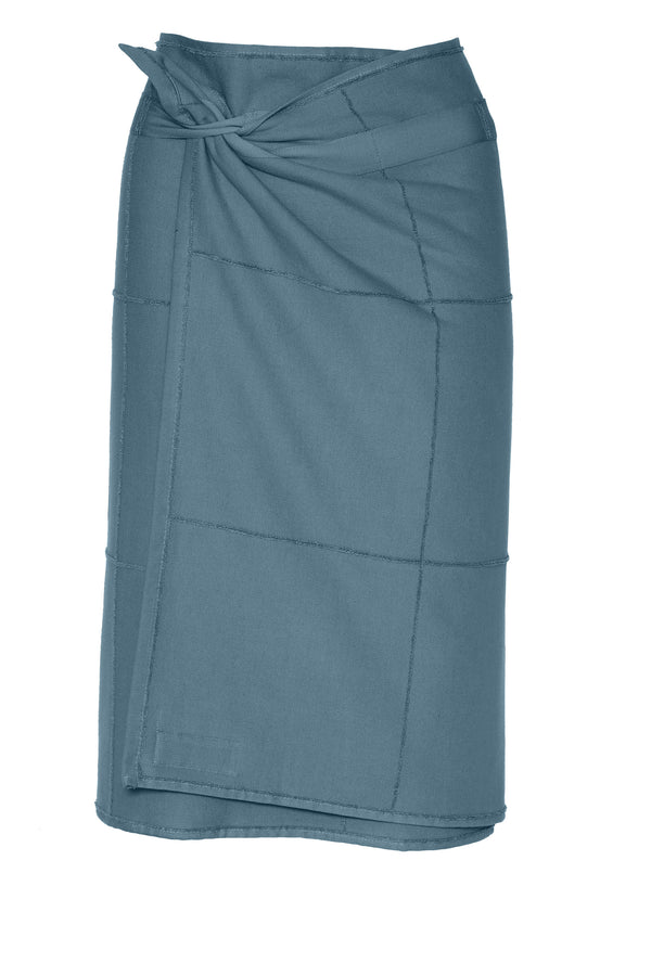 The Organic Company CALM Towel to Wrap TerryPlain 510 Grey blue