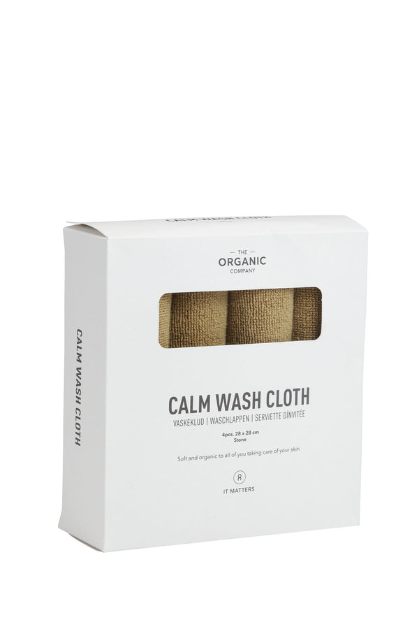 The Organic Company CALM Wash Cloths TerryPlain 215 Khaki