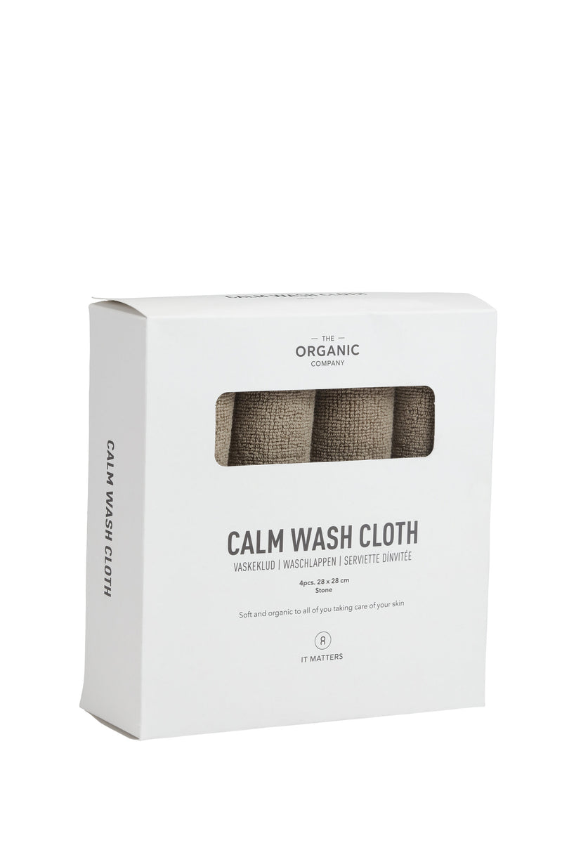 The Organic Company CALM Wash Cloths TerryPlain 225 Clay