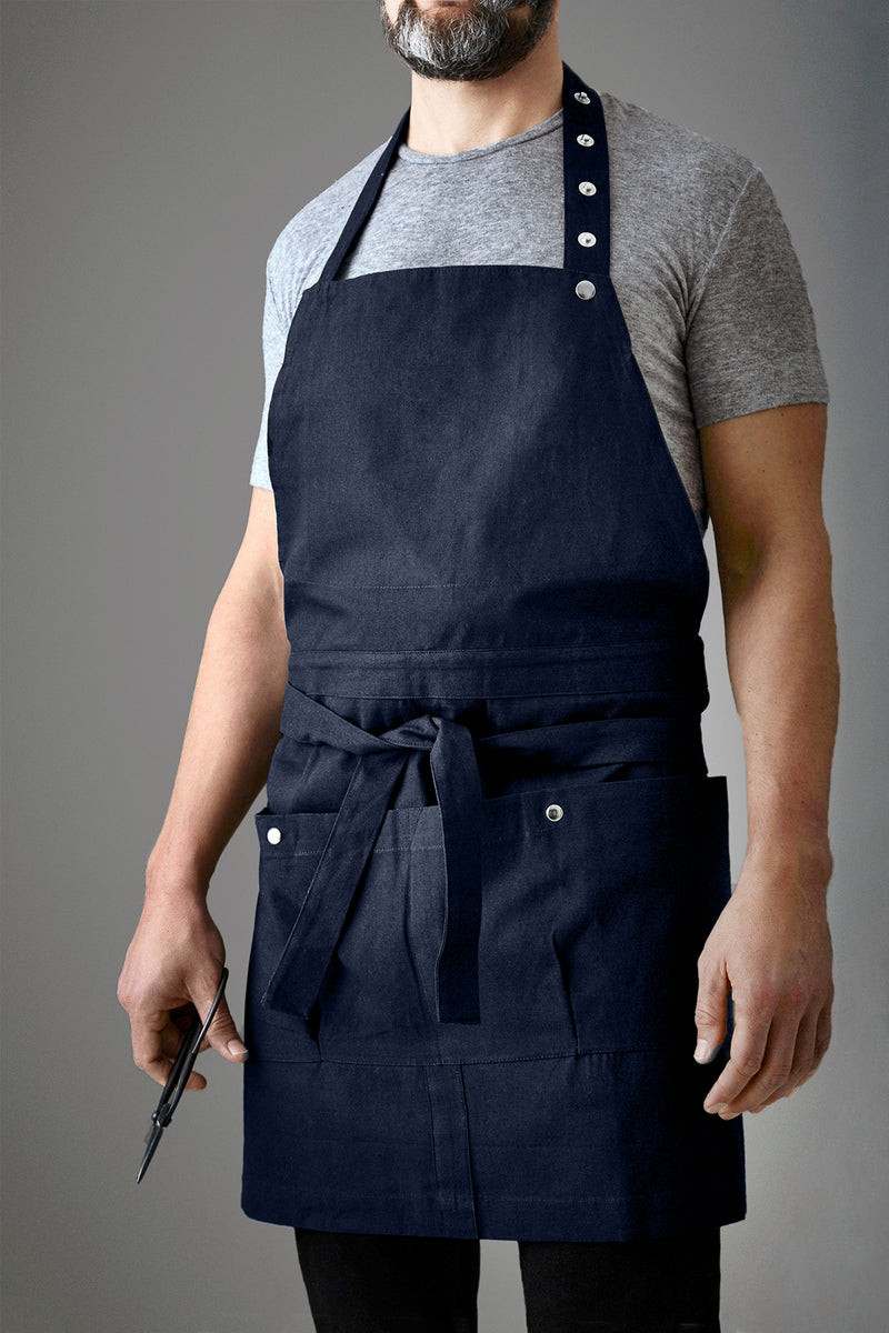 The Organic Company Creative and Garden Apron Canvas 500 Dark blue