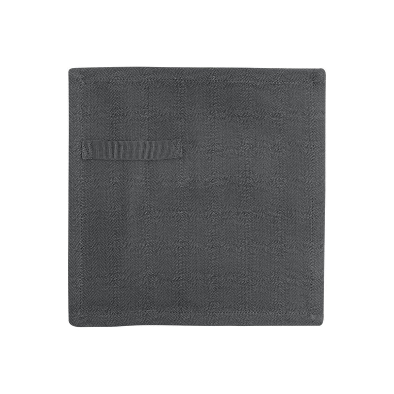 Dark grey napkin unfolded