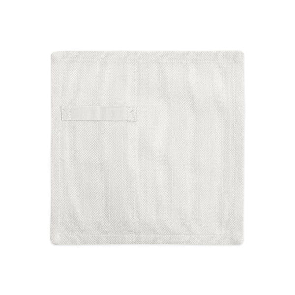 natural white gots certified organic reusable napkin for everyday use